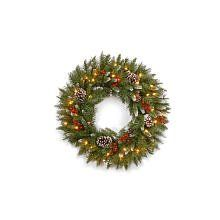 PreLit Frosted Berry Christmas Wreath * Be sure to check out this awesome product.