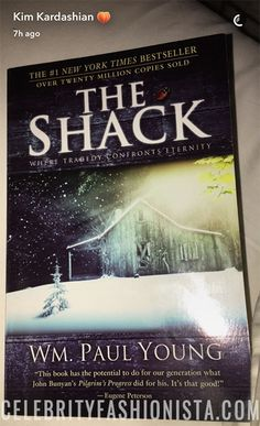 Kim Kardashian´s Book Club on Snapchat, Feb 2017: The Shack by William Paul Young. #style #celebstyle #book #snapchat