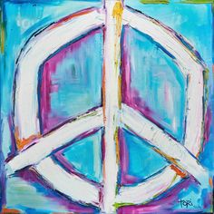 """Marmont Hill - """"Bright Peace"""" by Tori Campisi Painting Print on"""