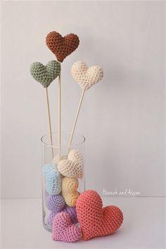 Item b Crochet heart Wedding cake topper by HannahAspensbridal, $5.00