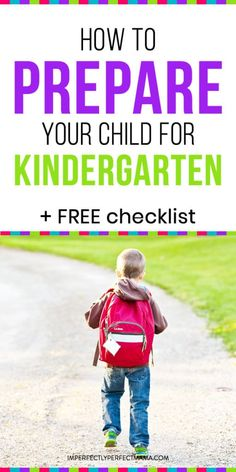 FREE Kindergarten Readiness Checklist + Tips to Prepare Your Child - Imperfectly Perfect Mama