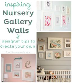 Inspring Nursery Gallery Walls & designer tips to create your own