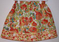 Skirt Tutti Frutti Poly/Cotton blend   Size 2  7 by bubblenbee, $15.00