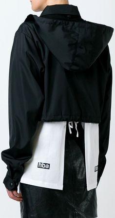 Hood By Air logo print cropped jacket