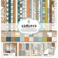 Fancy Pants Designs - Swagger Collection - 12 x 12 Paper Kit at Scrapbook.com $22.99