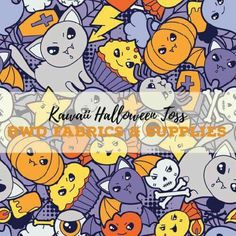 90fd19e5d8f BWD Exclusive - Kawaii Halloween Toss on Cotton Spandex Jersey Knit Fabric