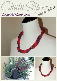 3rdnecklace in Twisted and Twirled #Crochet series is made using slip stitch and chain stitches @jessie_athome