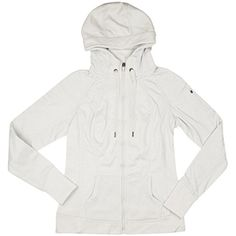48f48dd45 Tangerine Womens Active Microstripe Zip Up Hooded Jacket (Small, Ivory)