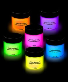 GREAT for costumes!! Love this Assorted Glow-in-the-Dark Body Paint - Set of Six on #zulily! #zulilyfinds