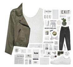 """Exit"" by blood-drops ❤ liked on Polyvore featuring adidas, Topshop, Acne Studios, The Elephant Family, NARS Cosmetics, Rosanna, T3, ROOM COPENHAGEN, Happy Plugs and Davines"