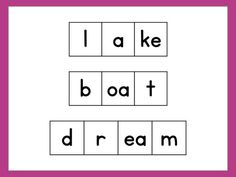 Free printable elkonin sound box template classroom ideas elkonin boxes can be used to teach vowel spelling patterns and show students that more than pronofoot35fo Gallery