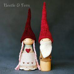 Waldorf Inspired Sweetheart Valentine Big Gnome by BeetleAndFern