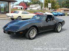 1979 Black Corvette Stingray 4 Speed T-Top -- Classic C3 Corvettes for sale at Hobby Car Corvettes