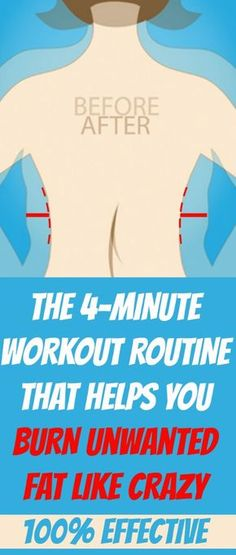 THE 4-MINUTE #WORKOUT ROUTINE THAT HELPS YOU #BURN #FAT LIKE CRAZY