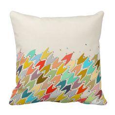 Rashmi ikat ivory pillow #zazzle #artsprojekt #pillow #home #arrows #scrummy #scrummylicious #sharonturner #ivory | via Sharon Turner