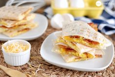 How to Make Quick and Easy Breakfast Quesadillas In a Waffle Maker - One Good Thing by Jillee