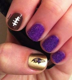 Football nails @Cameron Daigle Hussynec