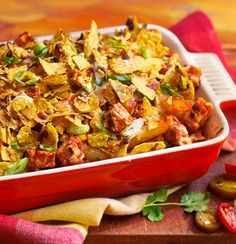 Get inspired and try this delicious Quorn Meatless Mexican Chicken Pasta Bake recipe with Quorn Meatless & Soy-Free Chicken Tenders.