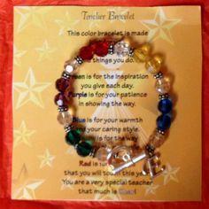 Teacher bracelet with initial made for teacher's Christmas gifts! :-)