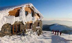 Jasna-Chopok ski resort, Slovakia. The book is set at a similar site, an unused ski resort.