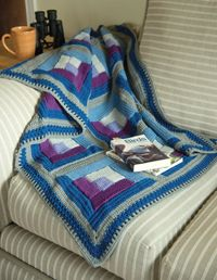 Quilted Throw - A #Tunisian crochet #blanket pattern from Love of #Crochet magazine