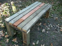 The post Easy perfect garden bench! appeared first on Garden Diy. Garden Bench Plans, Wooden Garden Benches, Outdoor Benches, Diy Bank, Garden Storage Shed, Outdoor Living, Outdoor Decor, Easy Garden, Outdoor Projects