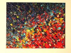 ORIGINAL Abstract Painting Modern Acrylic Art Water by EbiEmporium, $90.00