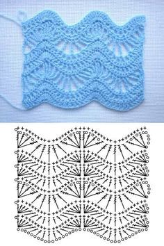 Crochet stitches 406309197629933652 - Crochet Top Pattern Source by mariedelaniche Crochet Motif Patterns, Crochet Diagram, Crochet Chart, Free Crochet, Stitch Patterns, Crochet Top, Knitting Patterns, Zig Zag Crochet Pattern, Dress Patterns