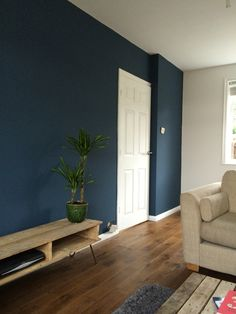 Farrow and Ball Stiffkey Blue in my living room