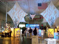 Contemporary Corporate Event held in warehouse. J Patrick Designs