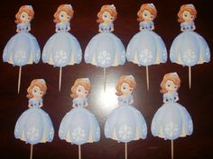24 Sofia the First Cupcake Toppers. $12.00, via Etsy.