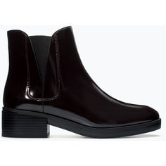 Zara Flat Elastic Chelsea Booties (€14) ❤ liked on Polyvore featuring shoes, boots, ankle booties, black, flat black booties, zara ankle booties, black flat ankle booties, black ankle booties and zara booties