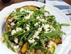Salat-gebackener Kkuerbis mit Rucola & Hirse