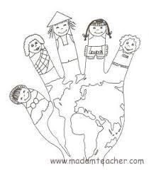 World hand puppet coloring sheet Preschool Education, Homeschool Kindergarten, Preschool Learning Activities, Preschool Activities, Earth Day Activities, Colouring Pages, Coloring Sheets, Coloring Books, Around The World Theme