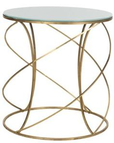 Cagney Accent Table Gold by Safavieh