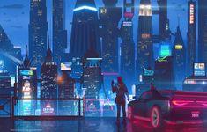 Trendy science and technology city sci fi Cyberpunk City, Arte Cyberpunk, Futuristic City, Cyberpunk 2077, Cyberpunk Aesthetic, 1440x2560 Wallpaper, Graffiti Wallpaper, Sci Fi City, Pixel Animation
