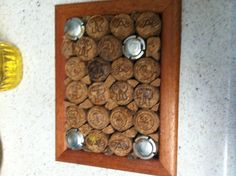 Trivet made with champagne corks