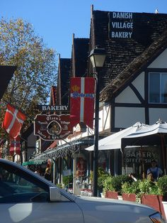 Lots of bakeries, specialty shops, and restaurants in Solvang, Santa Barbara, California by OneTry