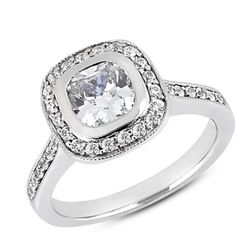 Beautiful diamond engagement ring! Diamond Accent Engagement Ring Mounting from Scoville Jewelers. $2,295.00
