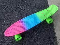 My new penny board #pennyboard #fadepennyboard #ombre