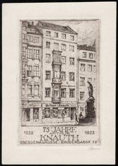 Radierung von ARTHUR HENNE (Dresden) 1933