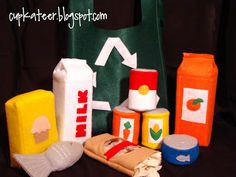 So excited to make these for the kids for christmas! FELT GROCERIES
