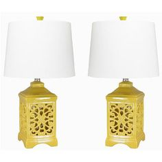 Shop for Dulce Yellow Table Lamps (Set of 2). Get free delivery at Overstock.com - Your Online Home Decor Shop! Get 5% in rewards with Club O!