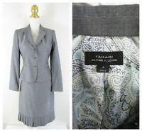 Midnight Velvet Formal Dress Sleek Silver Gray Skirt Suit Career Church Size 16   eBay Dress Suits, Skirt Suit, Ankle Length Skirt, Gray Skirt, Mother Of The Bride, Polyester Spandex, Size 16, Calvin Klein, Career