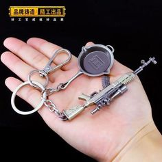 Costumes & Accessories helmet Game Playerunknowns Battlegrounds Keychain Weapon Model Keyring Zinc Alloy Special Buy Motivated Pubg Mini Drop Box Novelty & Special Use