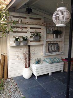 Creatief met pallets Tuin klaar voor zomer