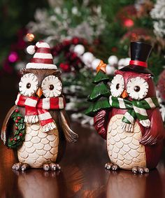 Decorative Holiday Owl Set | Daily deals for moms, babies and kids