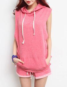 Set jogging suit/women sports wear/women jogging suit/sleeveles shirt/short pants/pink suit/women suit/vintage style