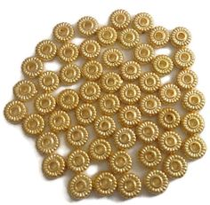 Gold Toned Daisy Spacer Beads Spacer Beads by ChristineJewels5