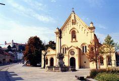 Bratislava, Slovakia - Church at the Župné námestie Travel Bugs, Us Travel, European River Cruises, Bratislava Slovakia, Carpathian Mountains, Danube River, Next Holiday, European Countries, Central Europe
